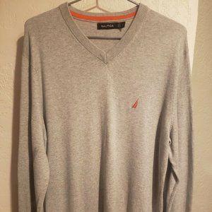 Nautica Mens Pima Cotton Blend V-Neck Pullover L